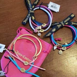 Juicy Couture Jewelry - 2 Juicy Couture bracelets & 6 hair ties